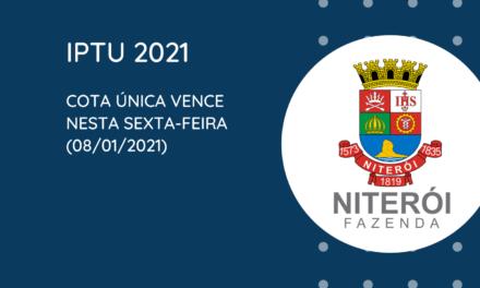 Prazo para pagamento do IPTU 2021 em cota única vence nesta sexta-feira (08)